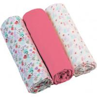 Plienky mušelínové - Super soft 3ks - Ružové | BabyOno
