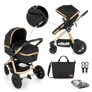 Kočík kombinovaný 2v1 Grand II Golden Ebony Petite&Mars