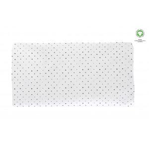 Plachta napínacia s gumičkou BIO Black Dots 60x120cm | Motherhood