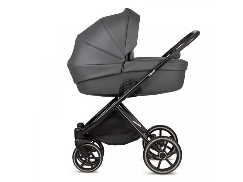 Hlboký kočík B-LUMMY Shadow Grey Eco Leather