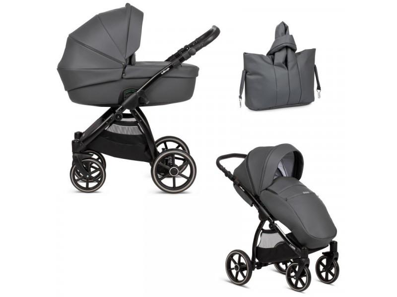 Kombinovaný kočík B-SUVVY Shadow Grey Eco Leather