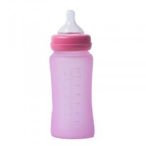 Bo Jungle | Sklenená fľaša s úchytmi B-Thermo 240ml Pink