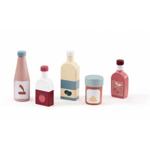 Kids Concept Fľaše drevené 5ks Bistro