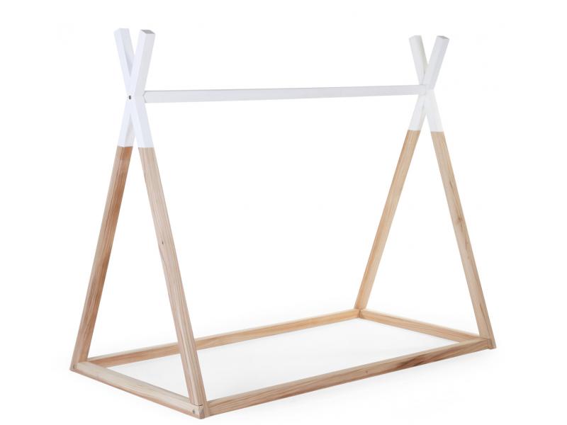 Childhome Posteľ Tipi stan konštrukcia Natural White 70x140cm