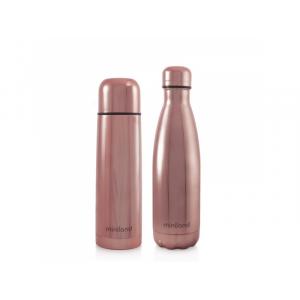 Miniland Sada termosky a termofľaše DeLuxe ružová