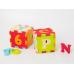 LUDI Puzzle penové 90x90cm písmená a čísla