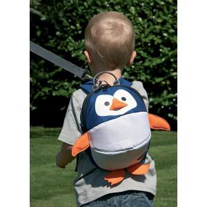 CLIPPASAFE Detský batoh s odnímatelným vodítkom, Penguin