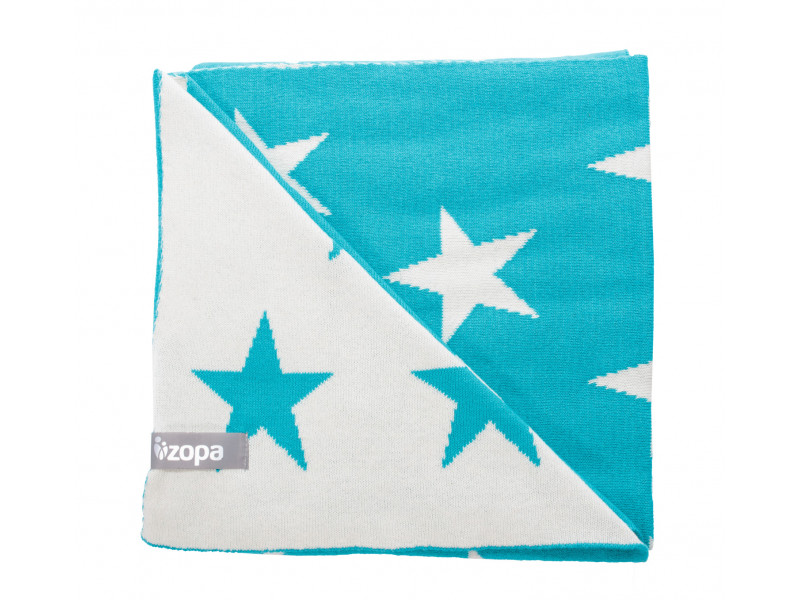 ZOPA Detská deka STARS, Mint