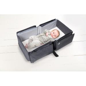 DOOMOO BASICS Baby travel prebaľovacia a prenosná taška, Grey