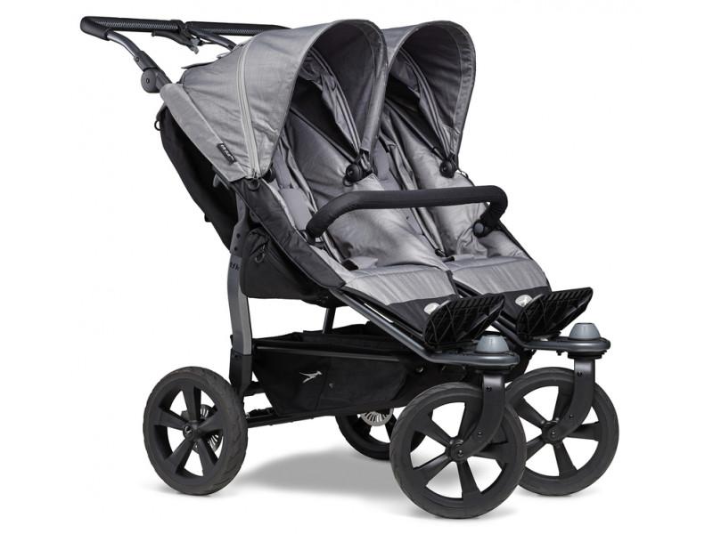 TFK športový kočík  Duo stroller - air chamber wheel grey