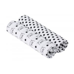 Lässig bavlnené plienky Swaddle blanket 120x120 Little Chums cat