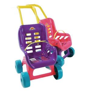 Kočík pre bábiky - fialový