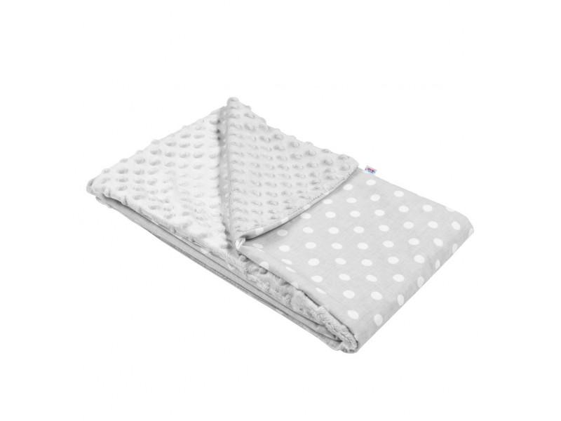 Detská deka z Minky New Baby sivá 80x102 cm