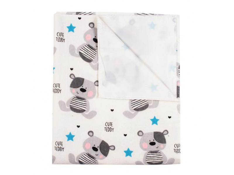 Nepremokavá flanelová podložka New Baby Cute Teddy