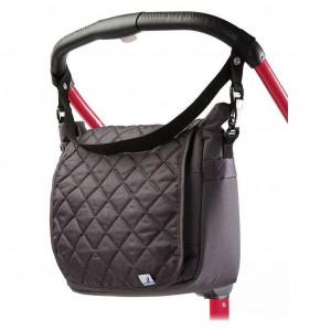 Prešívaná taška na kočík CARETERO graphite