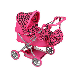 Hlboký kočík pre bábiky PlayTo Viola ružový