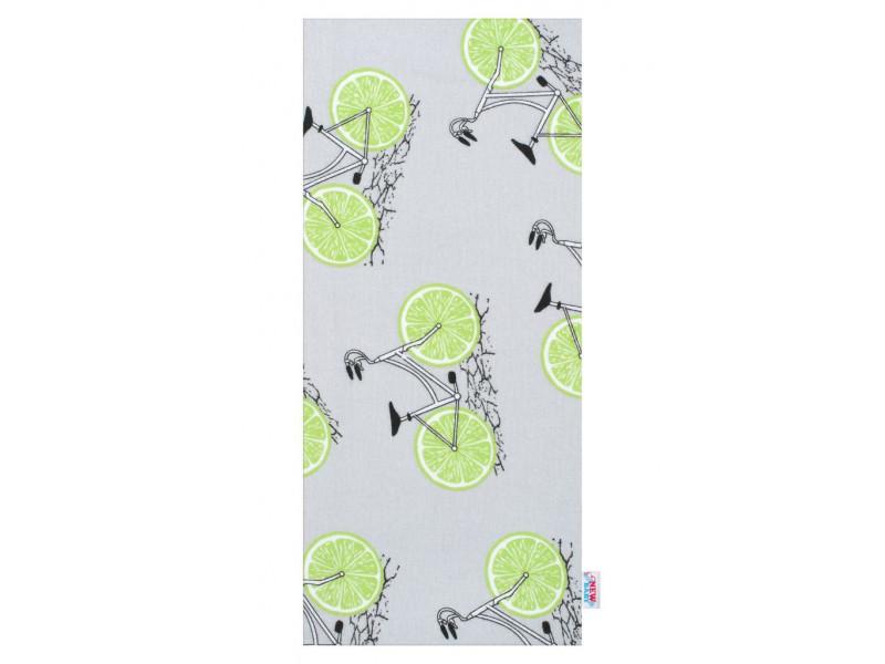 Flanelová plienka s potlačou New Baby sivá so zelenými koly