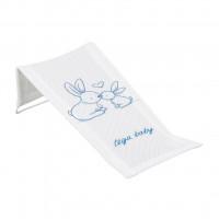Látkové lehátko na kúpanie Králičky biele