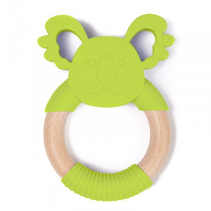 BO Jungle Hryzátko B-TEETHER ANIMAL WOOD Green Koala