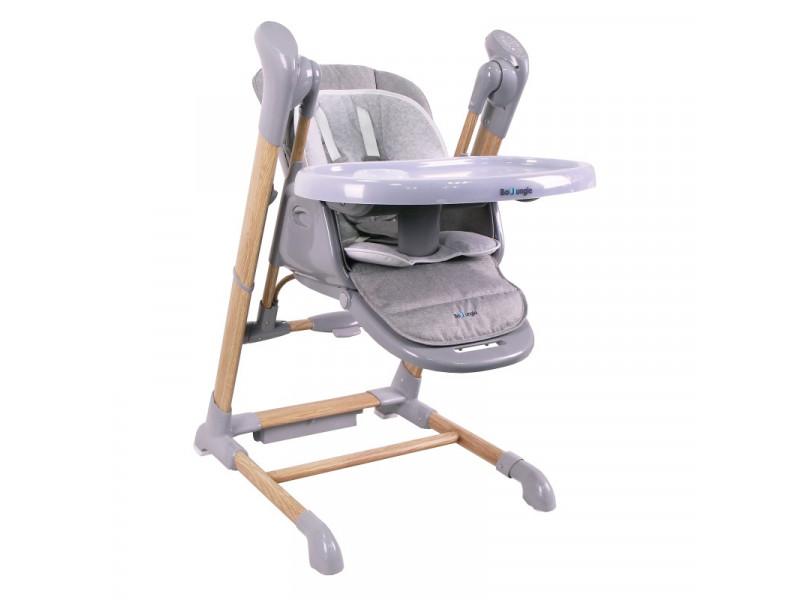 BO Jungle jedálenská stolička B-SWINGING CHAIR Wood Grey
