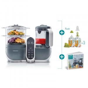 Babymoov Multifunkčný prístroj Nutribaby+ INDUSTRIAL GREY + Foodii