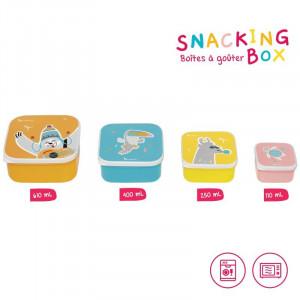 Badabulle Desiatové misky Snacking box 4ks