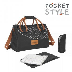 Badabulle Taška Pocketstyle Black CAMEL