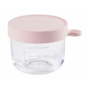 Beaba Kelímok na jedlo sklenený 150ml ružový