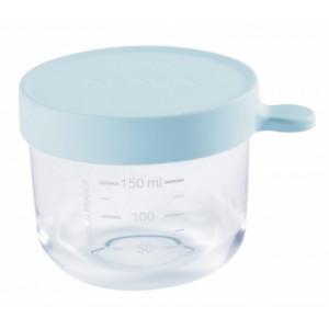 Beaba Kelímok na jedlo sklenený 150ml svetlo modrý