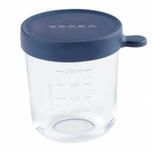 Beaba Kelímok na jedlo sklenený 250ml tmavo modrý