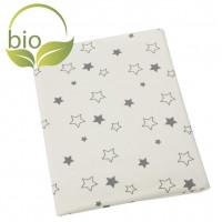 ByBoom Deka BIO bavlna so vzorom 70x100cm, Natur / Star Grey
