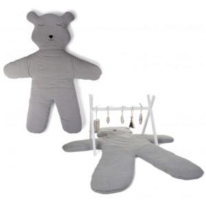Childhome Hracia deka medveď Teddy Jersey Grey 150cm