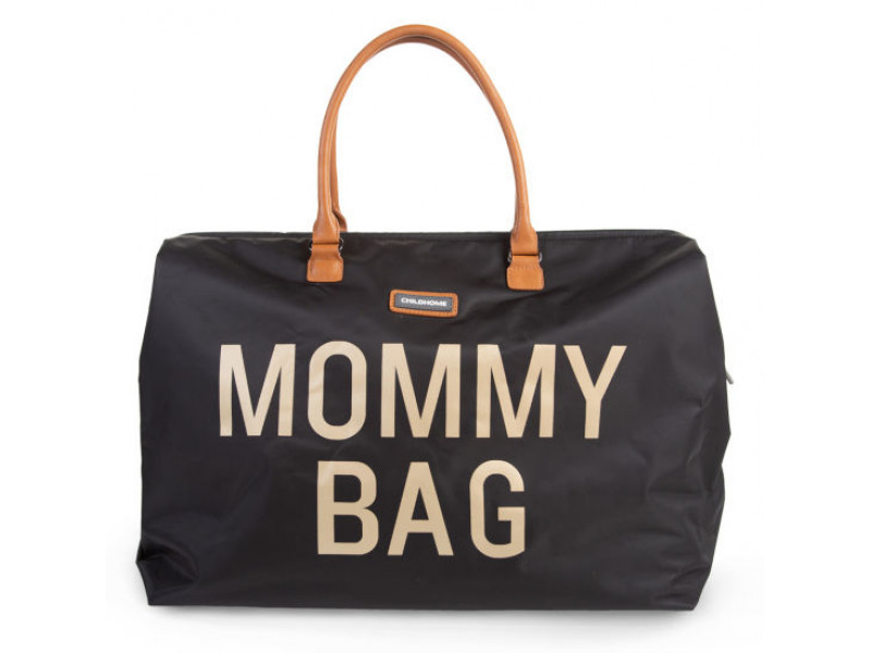 Childhome Prebaľovacia taška Mommy Bag Big Black Gold
