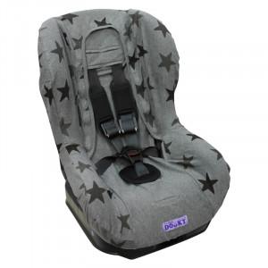 DOOKY Poťah na autosedačku Seat Cover Group1 Grey Stars