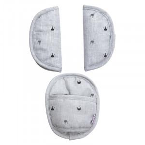DOOKY Chránič pásov Universal Pads Light Grey Crowns