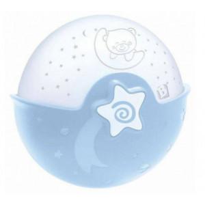 Infantino Nočná lampička s projekciou modrá