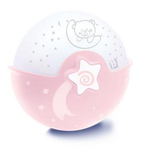 Infantino Nočná lampička s projekciou ružová