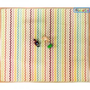 CASMATINO Detská ľahká skladacia podložka ZIGZAG 180x150cm - tenká
