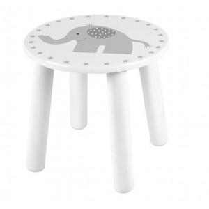 Jabadabado Detský biely drevený stôl Elephant