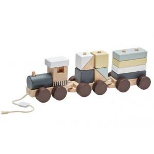 Kids Concept Vlak z kociek Neo drevený