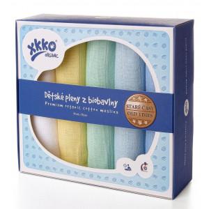 XKKO Plienka BIOBAVLNA Organic 5ks 70x70cm Staré časy - Pastels for Boys