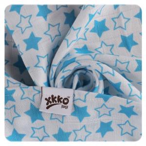 XKKO Osuška / plienka BAMBUS 90x100cm Little Stars Cyan
