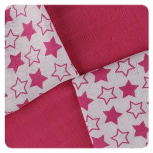 XKKO Plienky BAMBUS 9ks 30x30 - Little Stars Magenta MIX