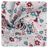 XKKO Plienky BAMBUS 9ks 30x30 - Flowers&Birds Girls MIX