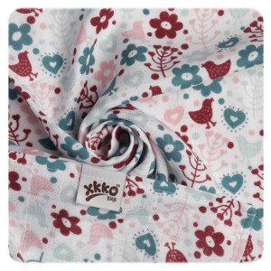XKKO Plienky BAMBUS 9ks 30x30 - Flowers&Birds Girls MIX