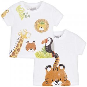 Tričko MAYORAL biele Safari - set 2 ks, Boy (1S)