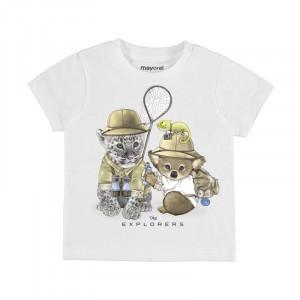 Tričko MAYORAL biele Safari, Boy (3C)