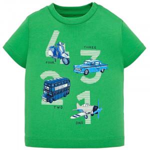 Tričko MAYORAL zelené Doprava, Boy (3E)