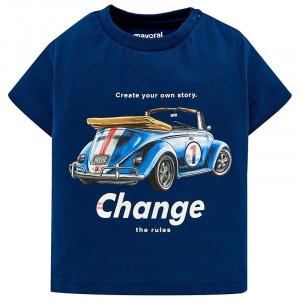 Tričko MAYORAL modré Auto, Boy (3F)