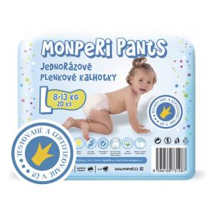 MonPeri Pants plienkové nohavičky L 8-13kg, 20ks/bal
